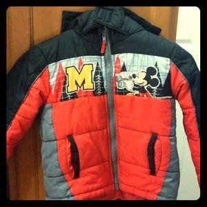Disney Mickey puffer jacket 3t